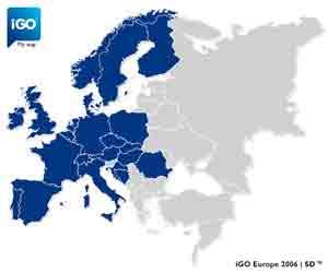 iGO покрытие Европы